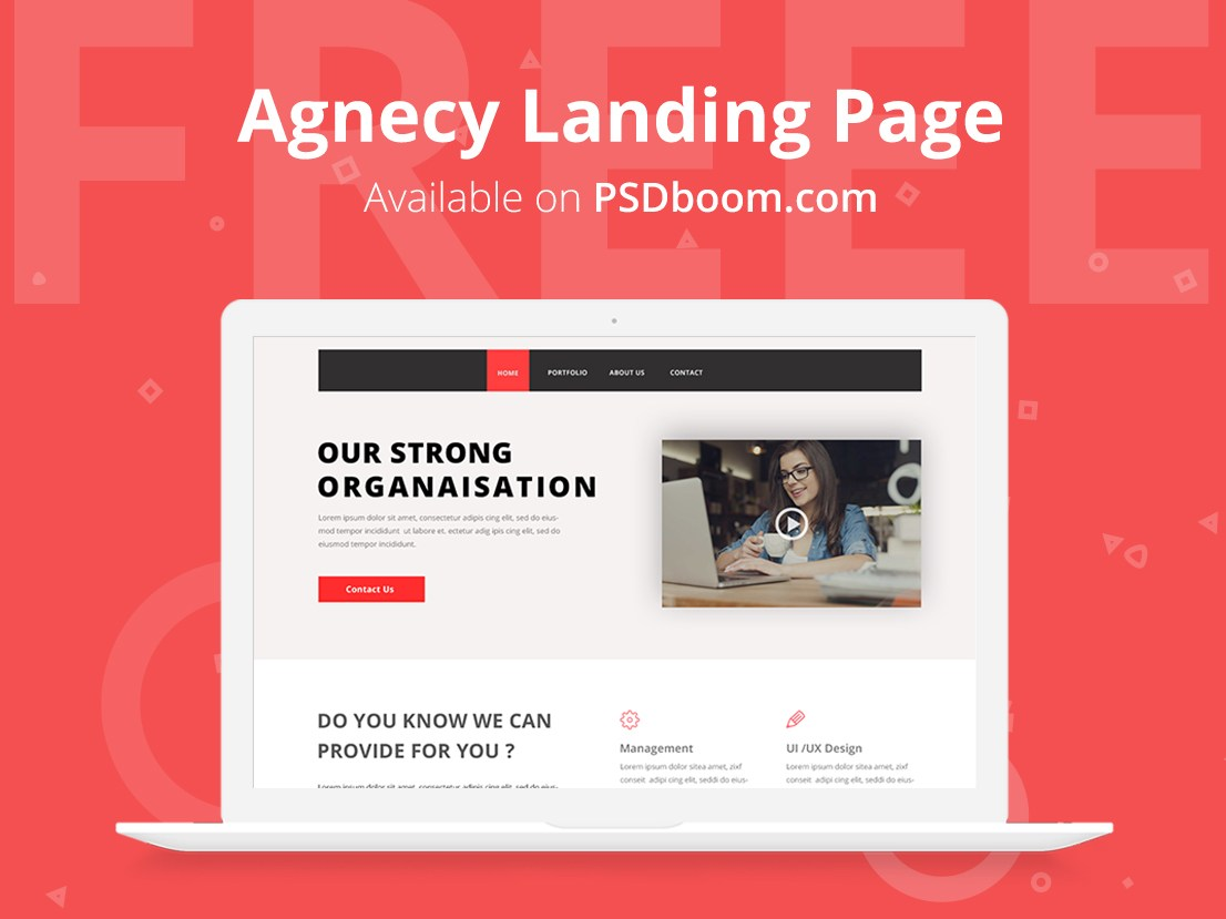 Free-agency-landing-page-template-psd