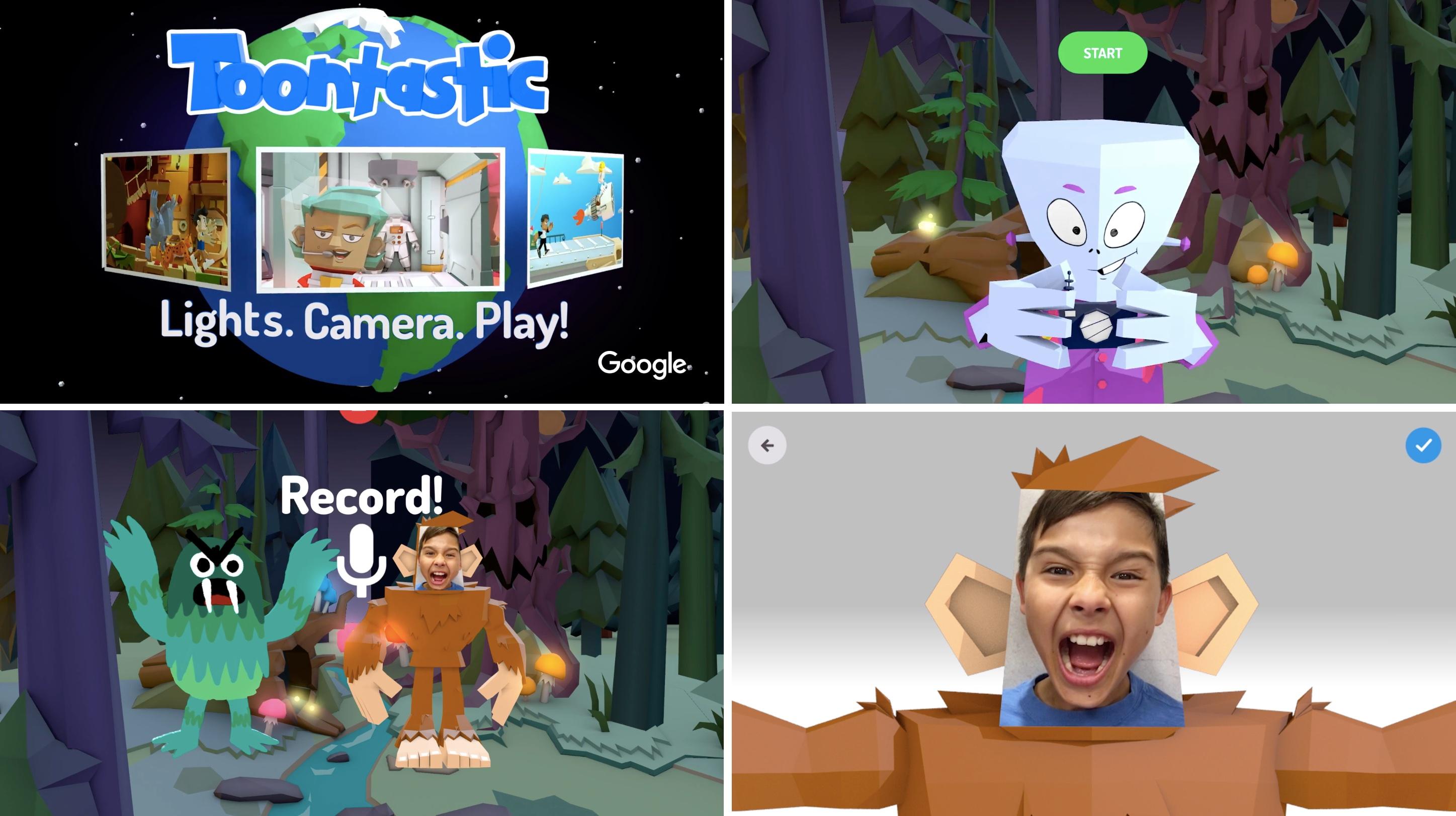 Google-Toontastic-3D App para niños: Google Toontastic 3D