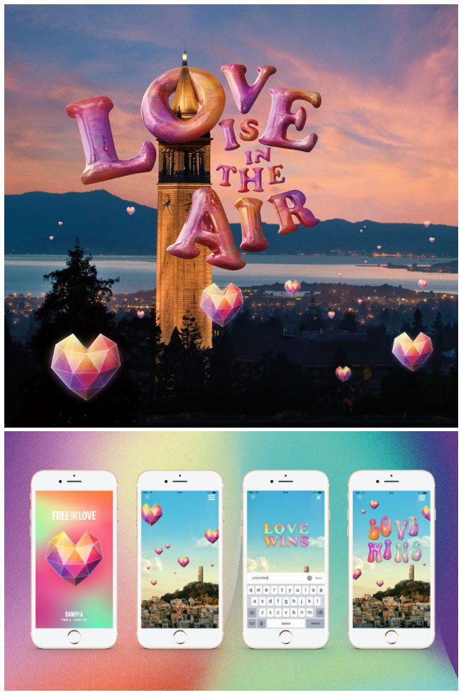 """love-is-in-the-air-1 """"Free The Love"""": Globos de Realidad Aumentada"""