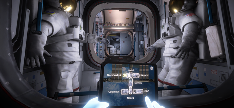 Estación espacial en realidad virtual