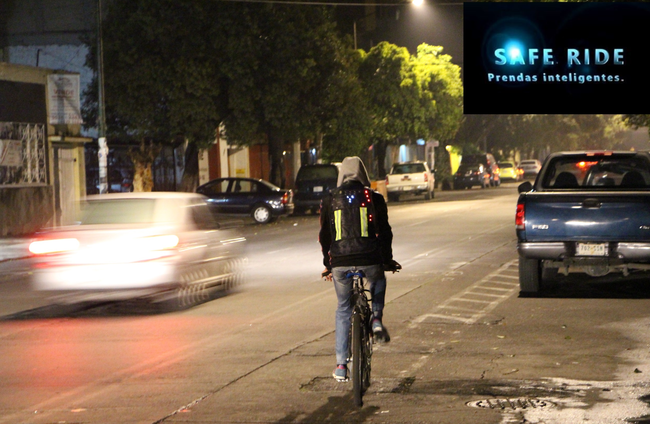 Chaleco inteligente para ciclistas