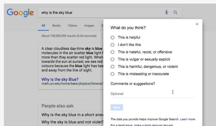 a-continuacion Google Proyecto Búho para mostrar información más confiable