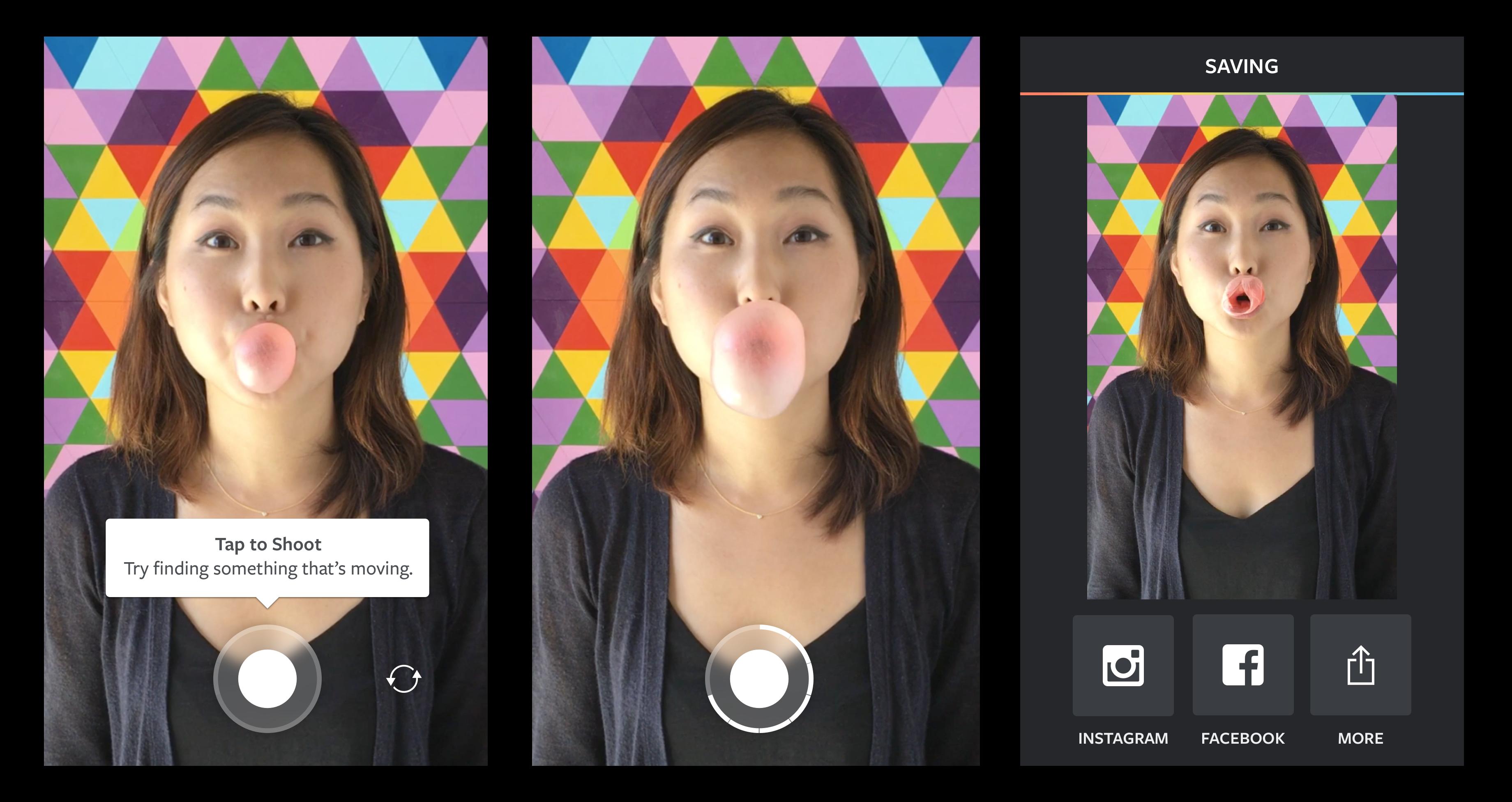 Crear vídeos con Boomerang