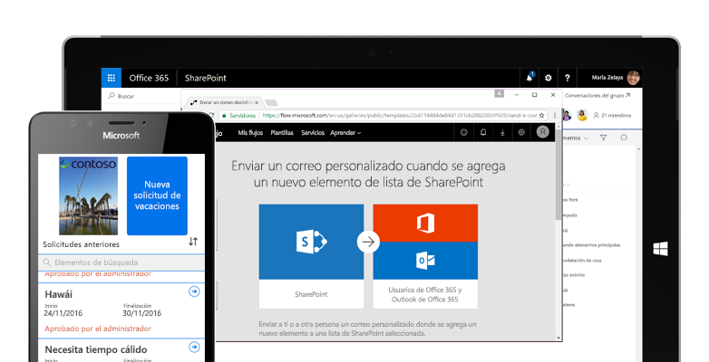 SharePoint-team-sites_provision-from-SP-home-Office365-1 8 Funcionalidades de Intranet que no pueden faltar