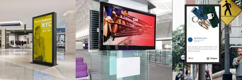 digital-signage-exteriores-1024x341 Digital Signage. Pantallas interactivas en Centros comerciales.
