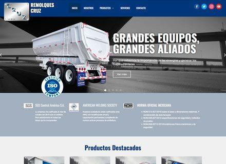 Diseño de página web Remolques Cruz